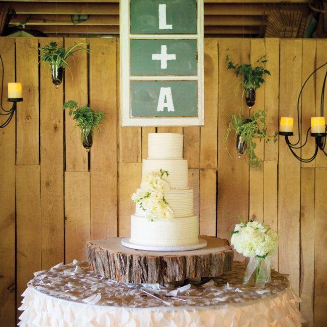 wedding cake display stump - Google Search | Wedding! | Pinterest ...