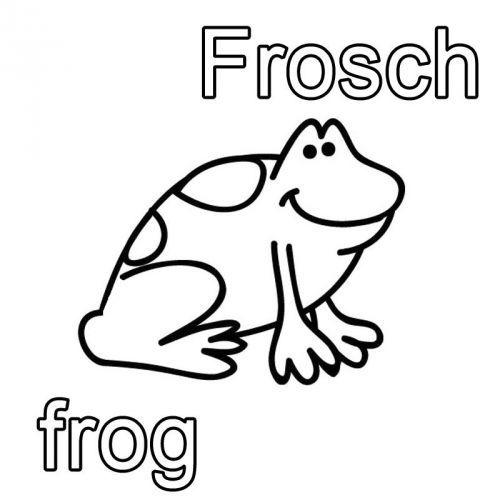 Englisch Lernen Ausmalbild Englisch Lernen Frosch Frog Zum
