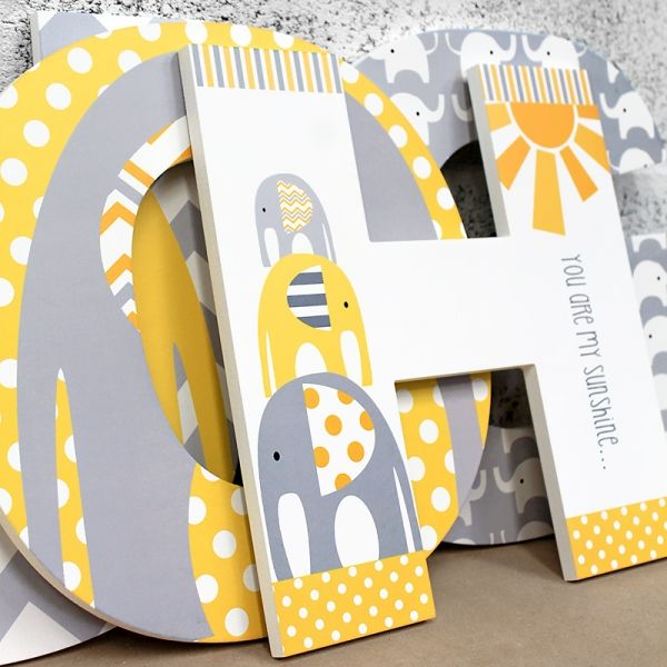Exelent Baby Wall Letters Decor Pattern - Wall Art Design ...