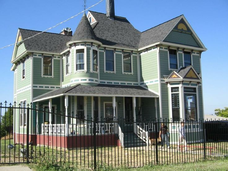 Victorian Houses in California | in pasadena california in 2002 it was cut in half with a chain saw and ...