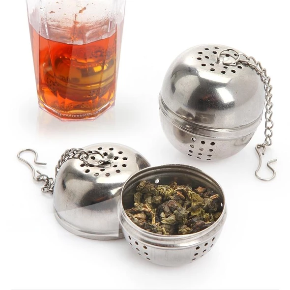 Loose Tea Infuser Leaf Strainer Filter Diffuser Herbal Spice Stainless Steel CF