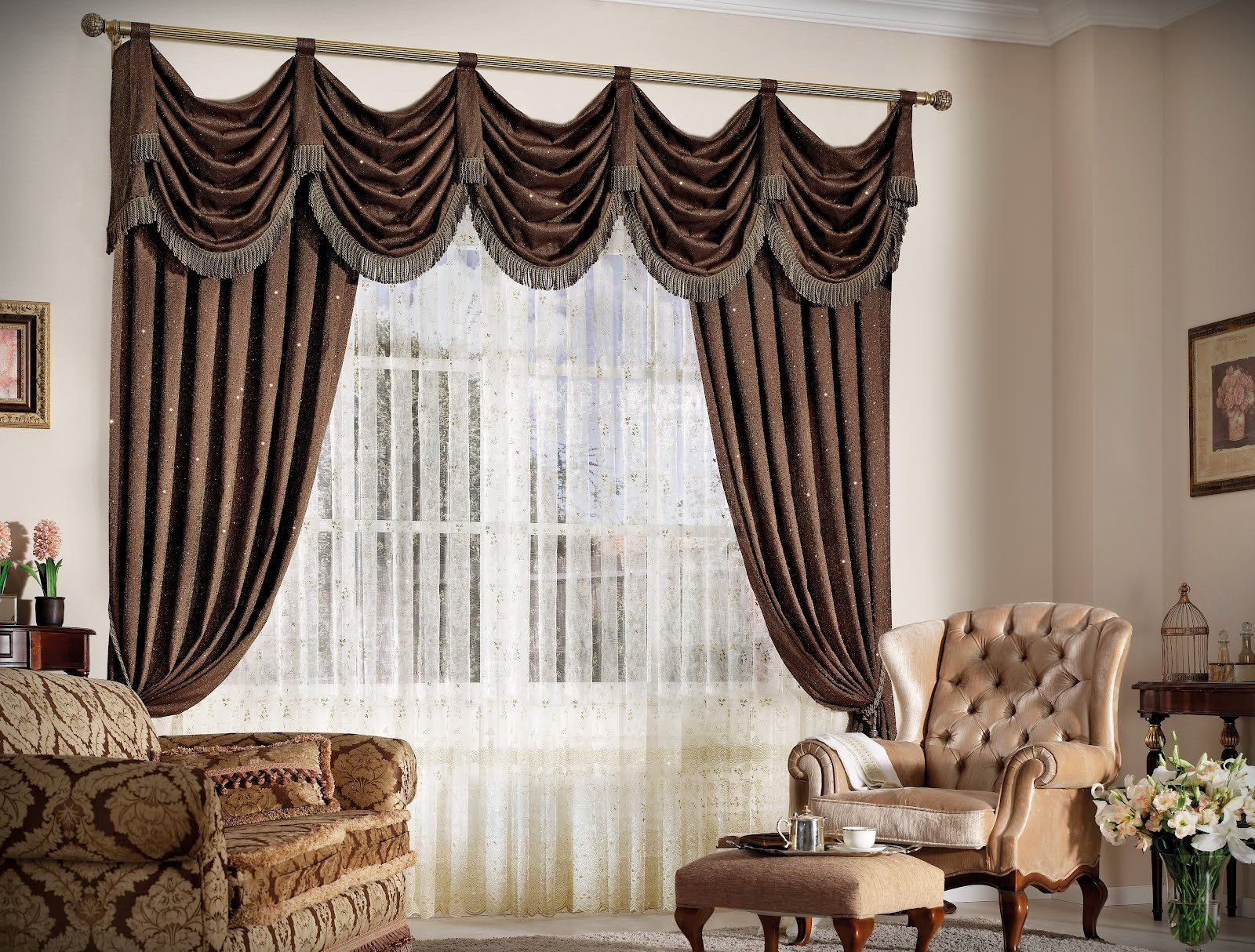 Brown curtains designs for living room - New Classic Curtain Designs Bottom Of Curtains With Lining Management Of Sunshine And Temperature Make It Necessary In Hot Climates As It Could