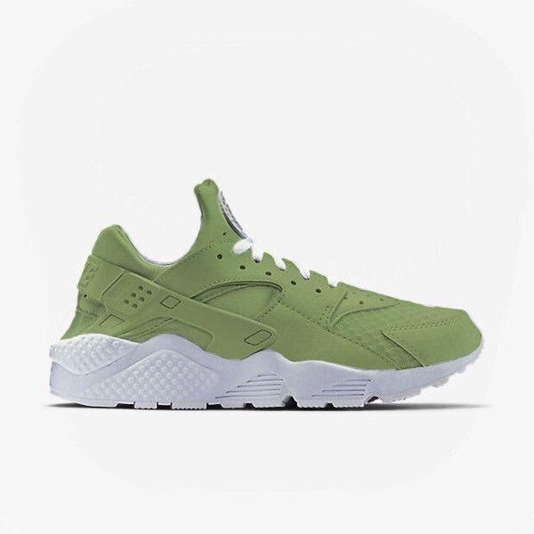 Khaki Green Olive Nike Huarache Run Sneakers ($178) ❤ liked on ...