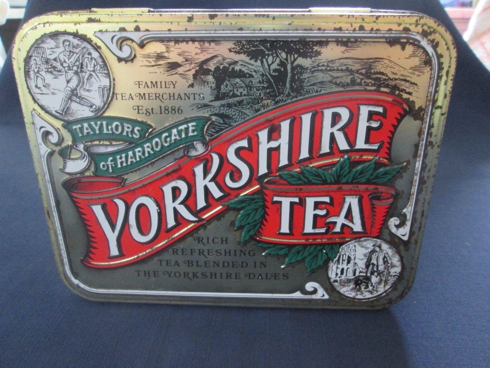 Vintage Taylors Of Harrogate Yorkshire Tea Empty Tin Ebay Yorkshire Tea Rich Tea Yorkshire