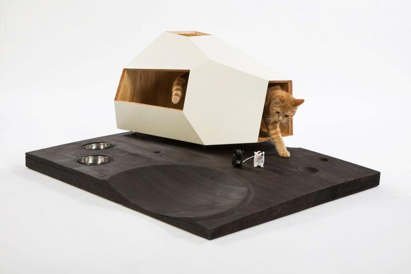 12 Sociétés d'Architecture de Los Angeles Ont Conçu Abris de Chat Pour l'œuvre Cat-Shelters-For-Charity_07
