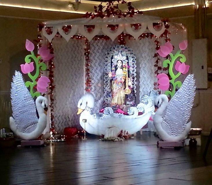 Saraswati Puja Decoration Saraswati Pooja Panda Decorations