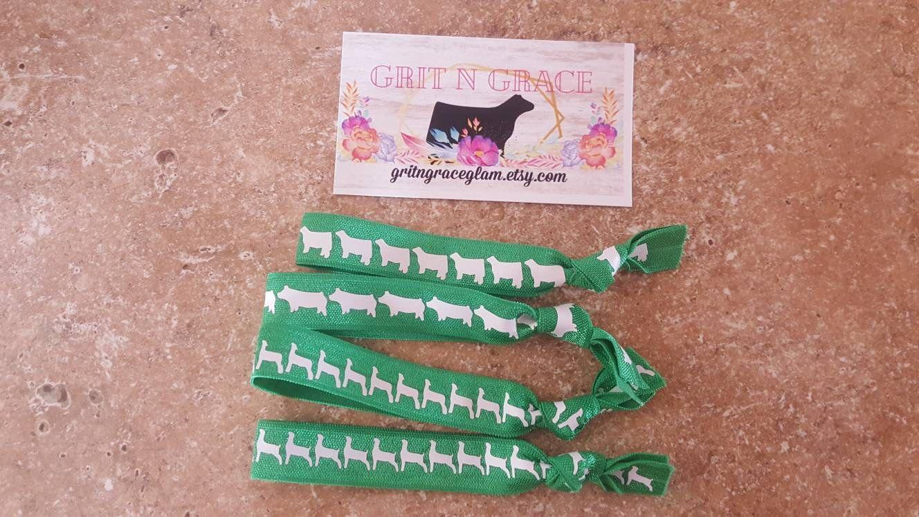 lamb pig farm girl steer livestock goat gifts under 15 Serape cotton headband 4H FFA