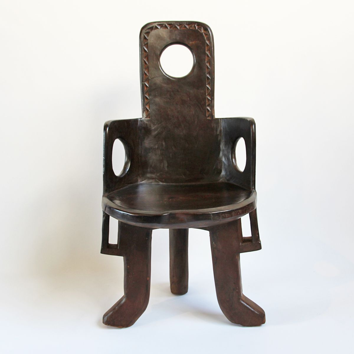 Original hand carved wood jima tribal chair from ethiopia beautiful
