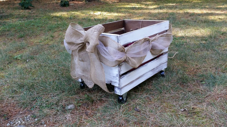 Rustic wedding wooden wagon flower girl wedding wagon rustic