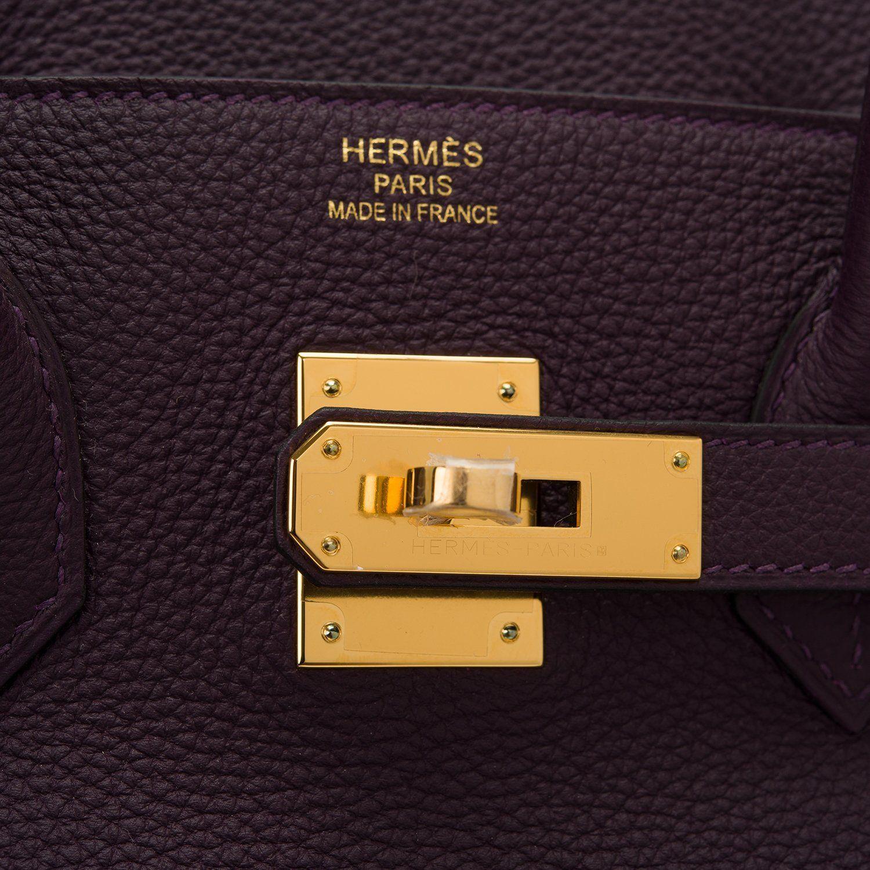 7321be4662 Hermes Raisin Togo Birkin 35cm Gold Hardware