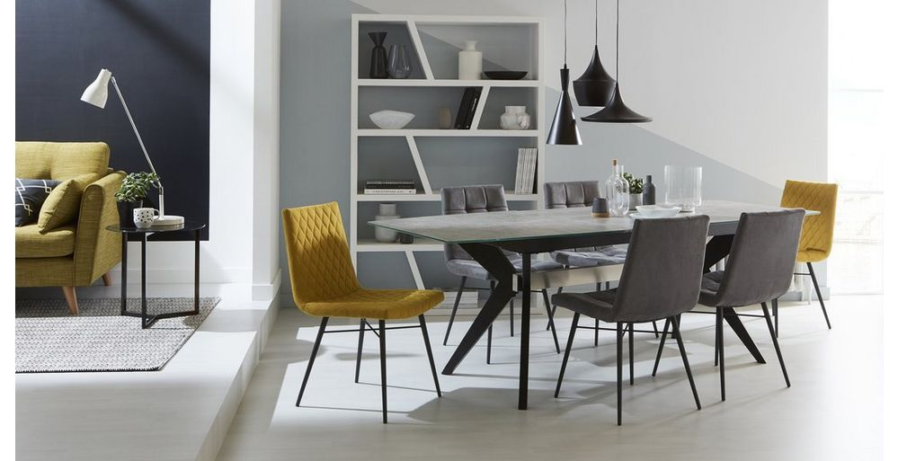 Crete Extending Dining Table Set Of 4 Faux Dining Chairs Dfs