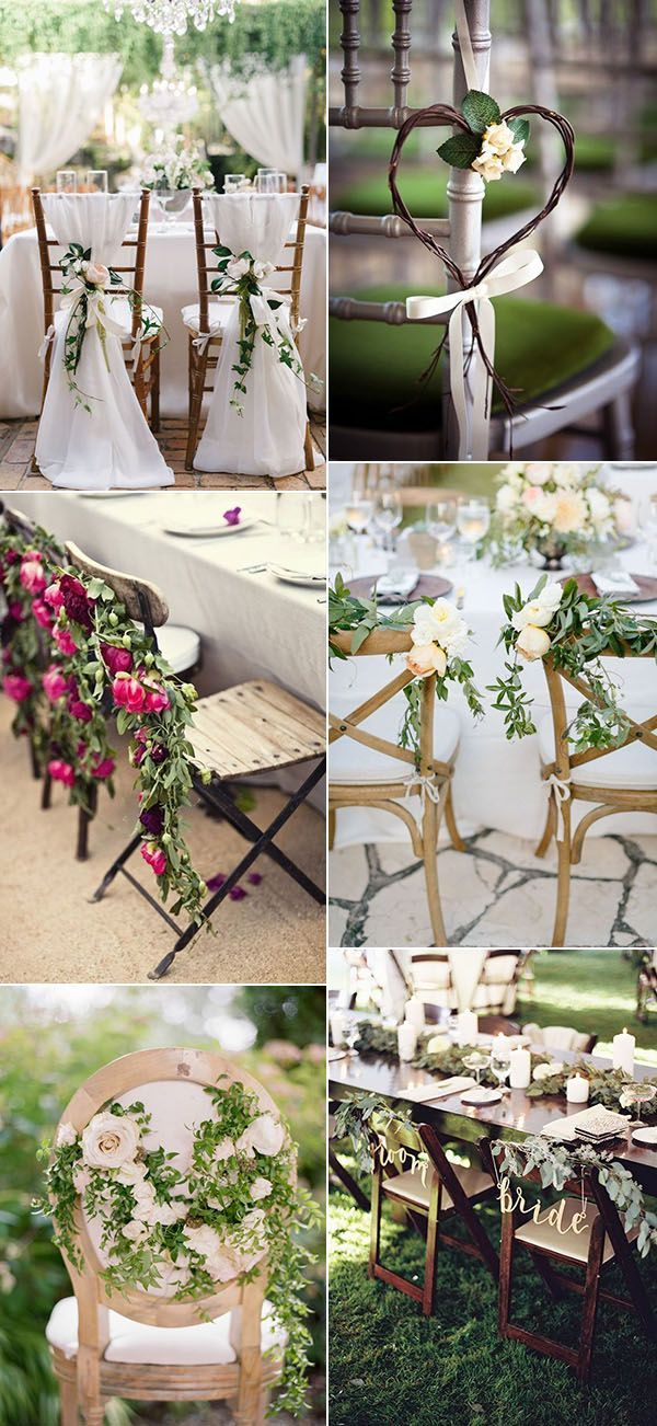 garden themed wedding chair decoration ideas for