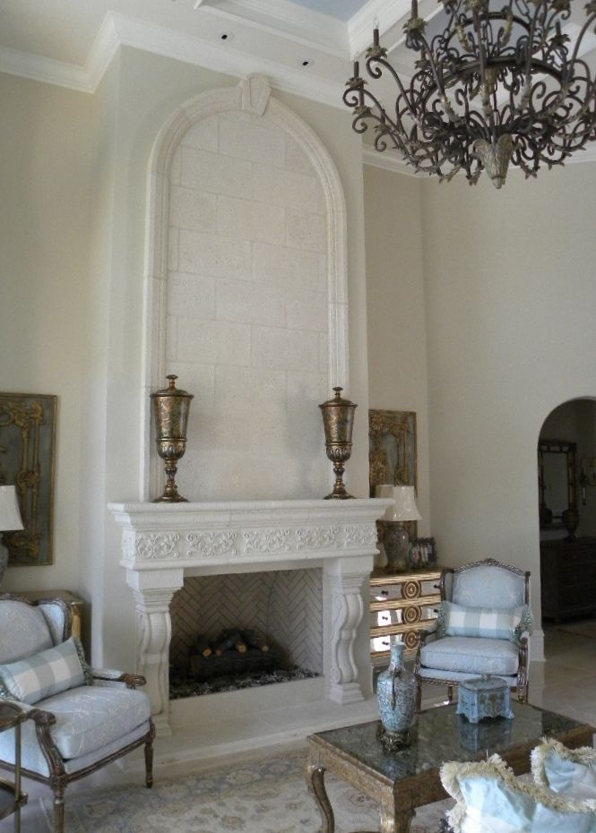 Cast Stone Fireplace Fireplace Is A Little Ornate But I Love The
