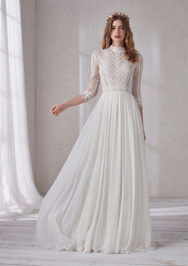 Mimosa Longsleevedweddingdresses Wedding Dresses Wedding Dresses Lace Casual Wedding Dress [ 1076 x 761 Pixel ]