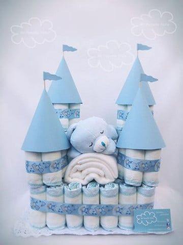 Tips Para Decoracion Baby Shower De Nina Y Nino Castillo De Panales Tortas Pasteles De Panales Panales De Baby Shower