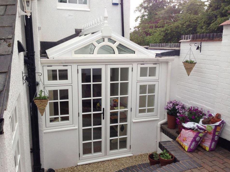 Avonbridge Ltd Installed This Sweet Residence 9 Conservatory In Grained White Residences Installation Windows And Doors