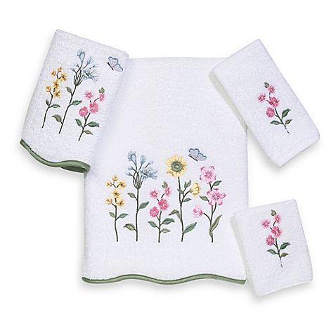 Avanti Premier Country Floral Bath Towel Collection In White Com