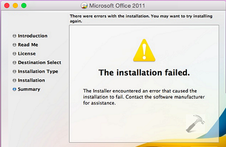 Fix The Installation Failed Error While Installing Office For Mac Office Setup Installation Microsoft Office