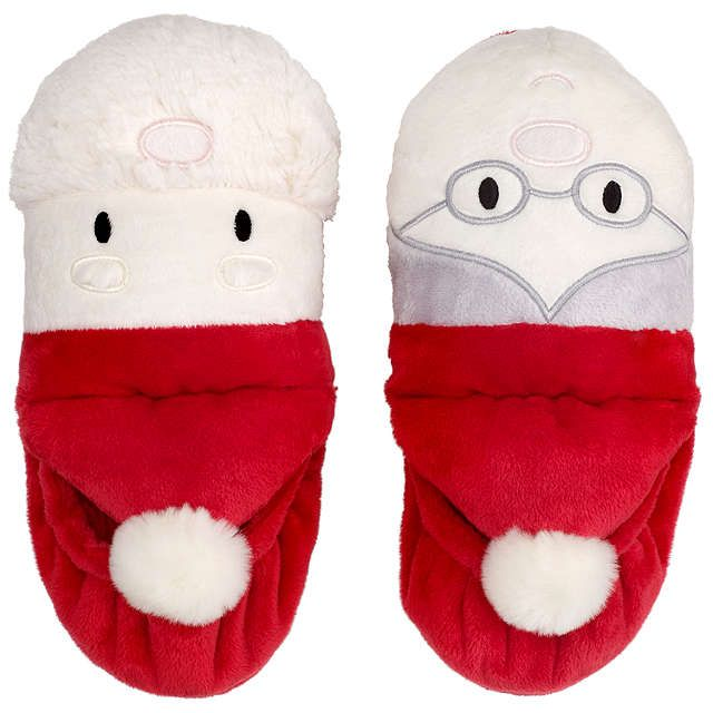 BuyJohn Lewis Children's Mr and Mrs Claus Slippers, Red, 8 Jnr ...