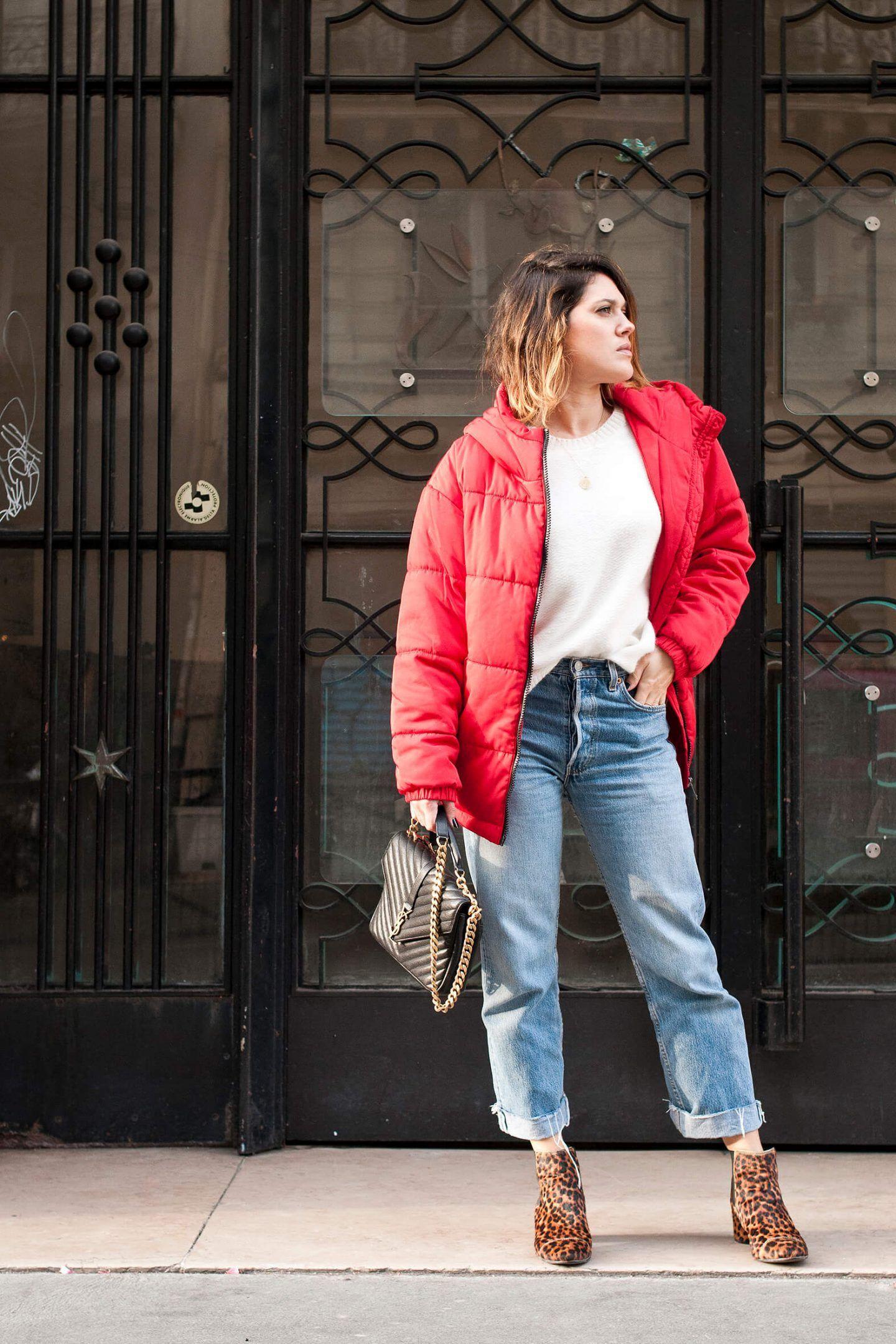 look doudoune oversize rouge L\u0027atelier d\u0027al blog mode lifestyle