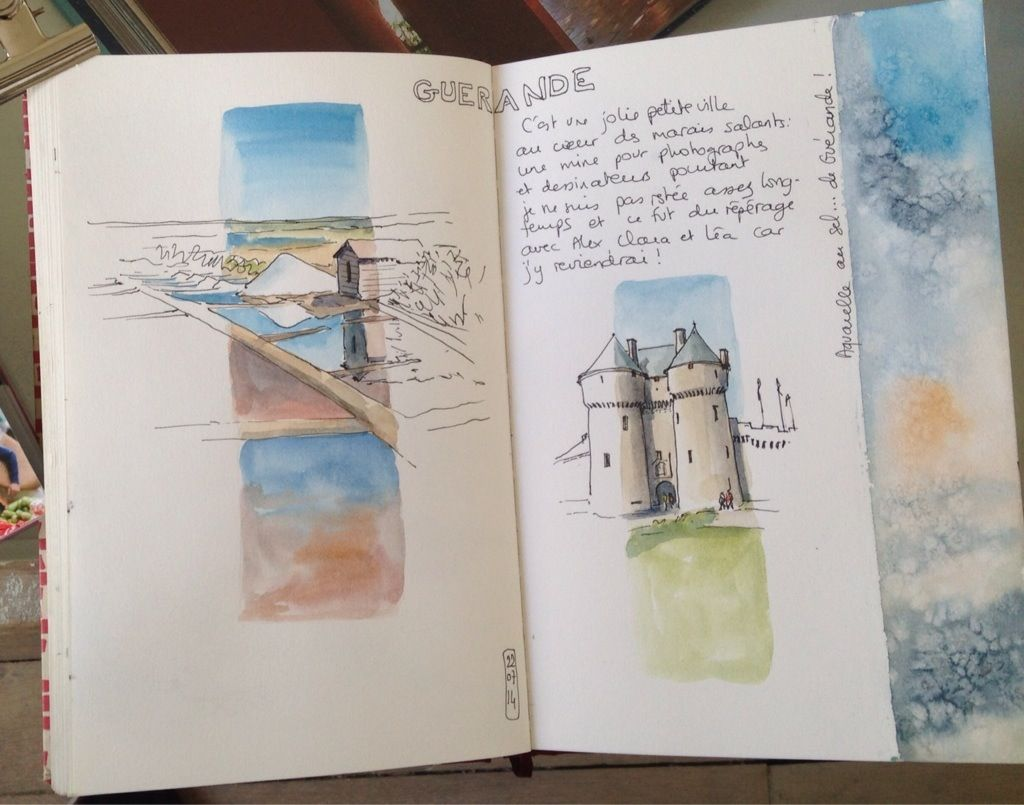 Cote Atlantique Izys Carnets De Croquis Idees Sketchbook Et