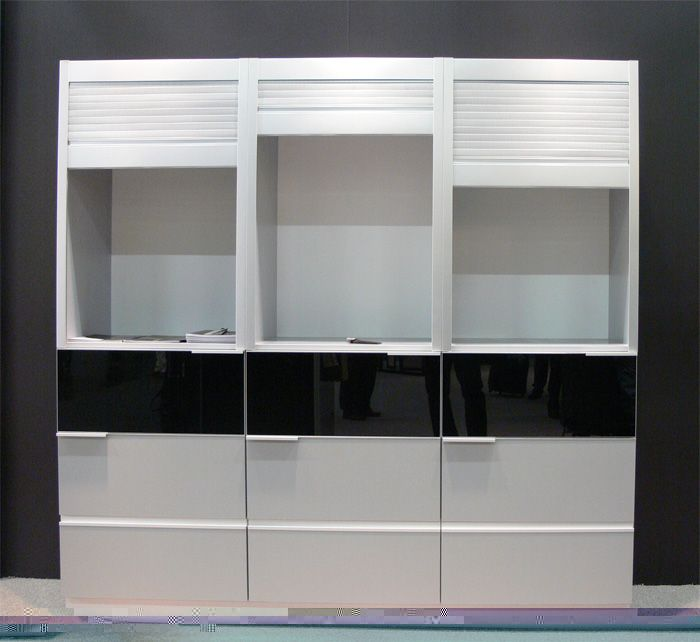 roll up cabinet doors Perforated Satin Aluminum (With ...