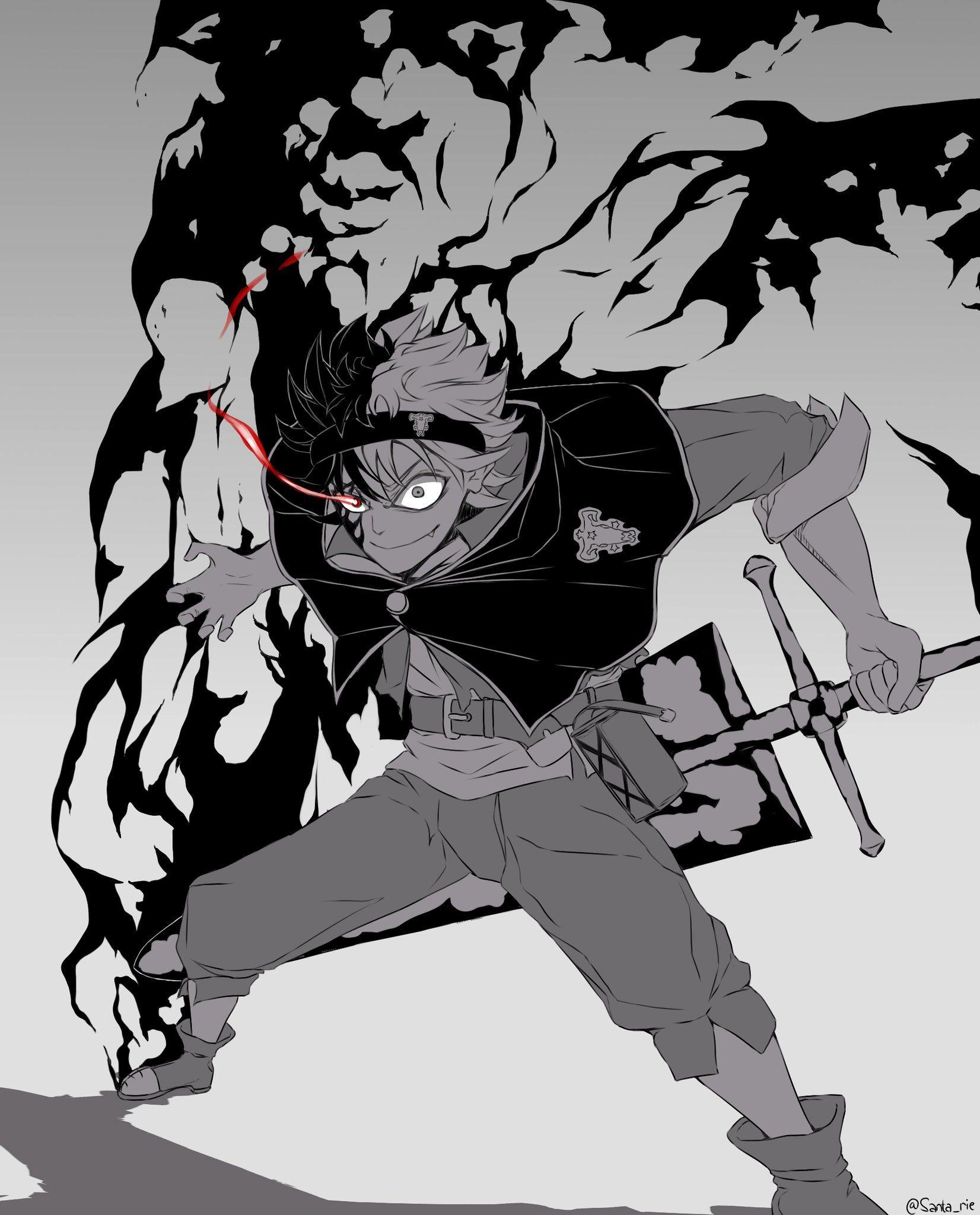 Asta Black Clover Black clover manga, Anime hd