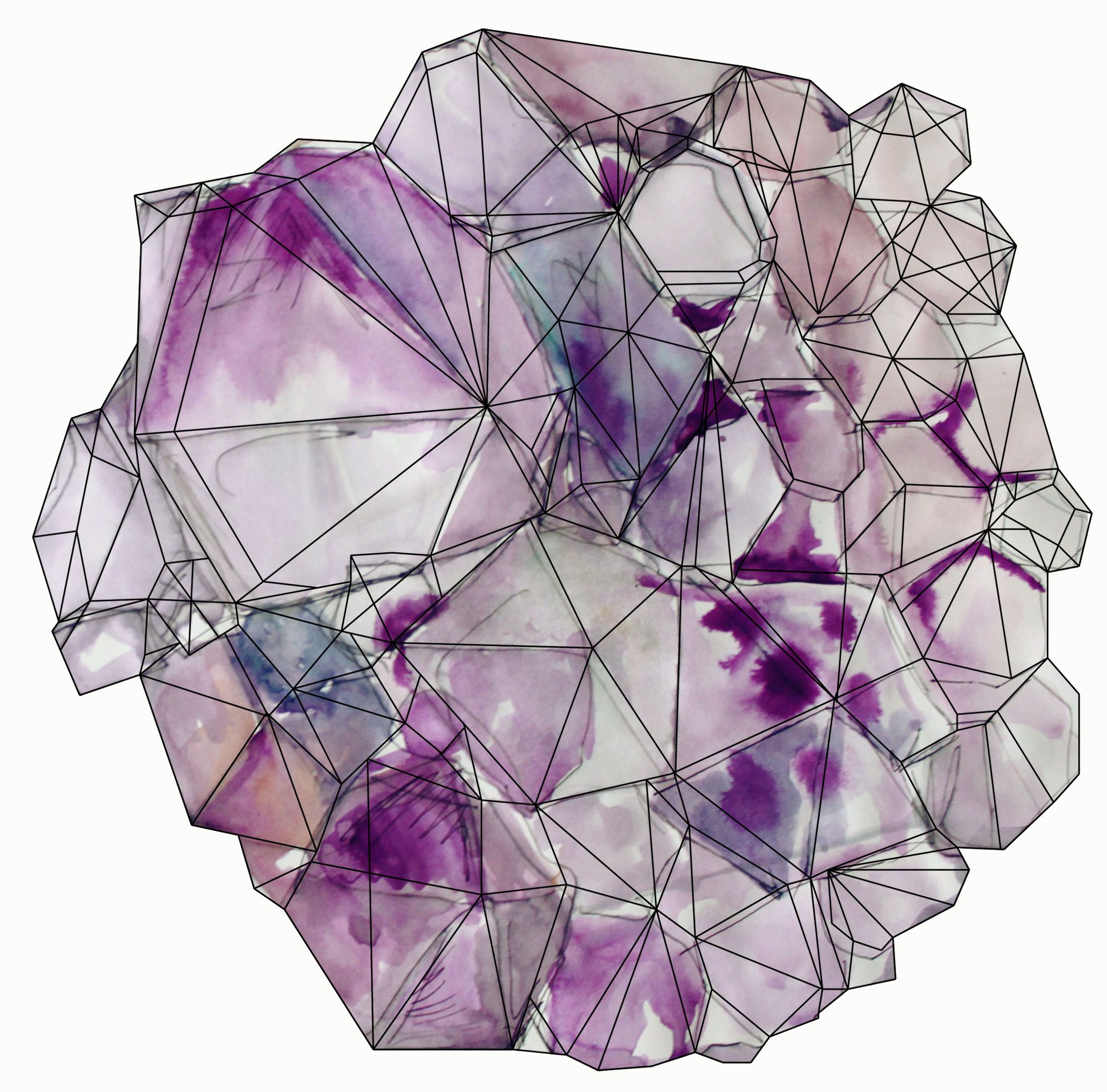 Crystal illustration geometric google search art for Paintings of crystals