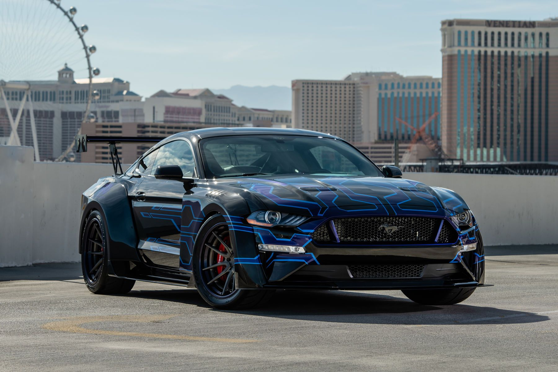 2018 Ford Mustang Gt Fastback By Galpin Auto Sports Gas Sema 2018 Widebody Mustang Mustang Ford Mustang