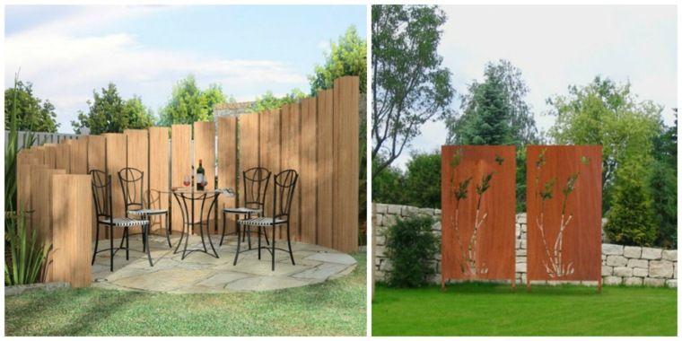 Clôtures de jardin en 59 idées captivantes  Brise vue ...