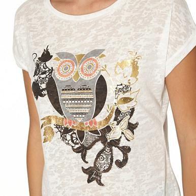Ivory owl burnout top