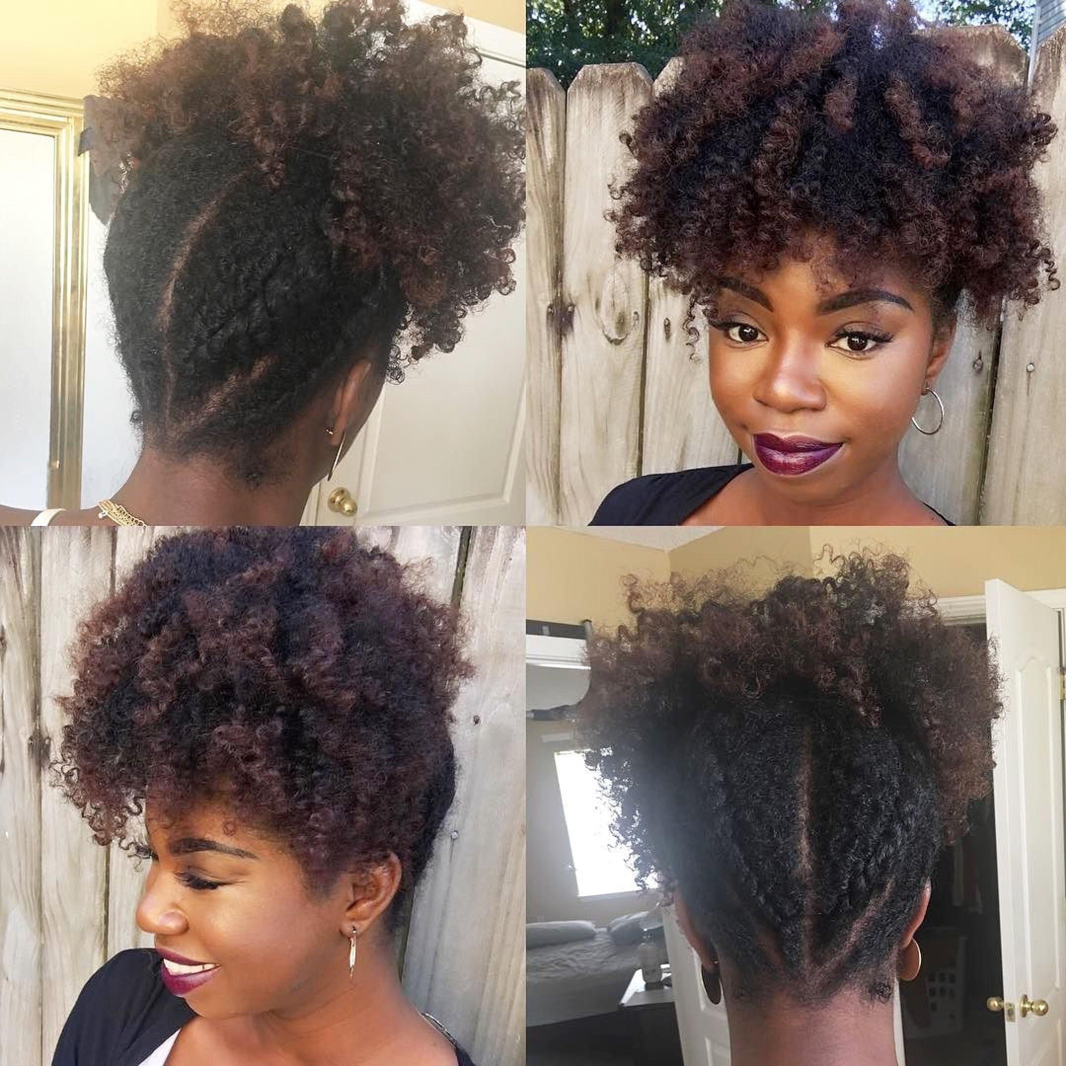 @jaicurls rockin a cute updo using @baskandbloom products | Natural hair styles, Natural hair ...