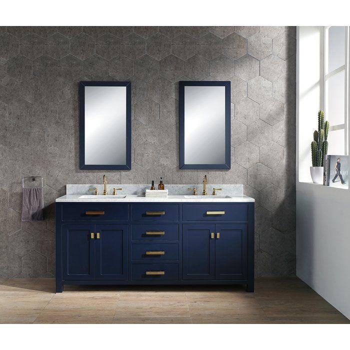 Crisler 72 Double Bathroom Vanity Set In 2020 Double Vanity Bathroom Bathroom Vanity Bathroom Sink Vanity