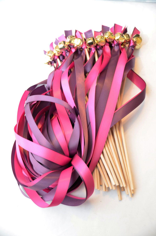 125 Ribbon Bell Wands ~ Wedding Ceremony ~ Send off Bells ~Wedding ...