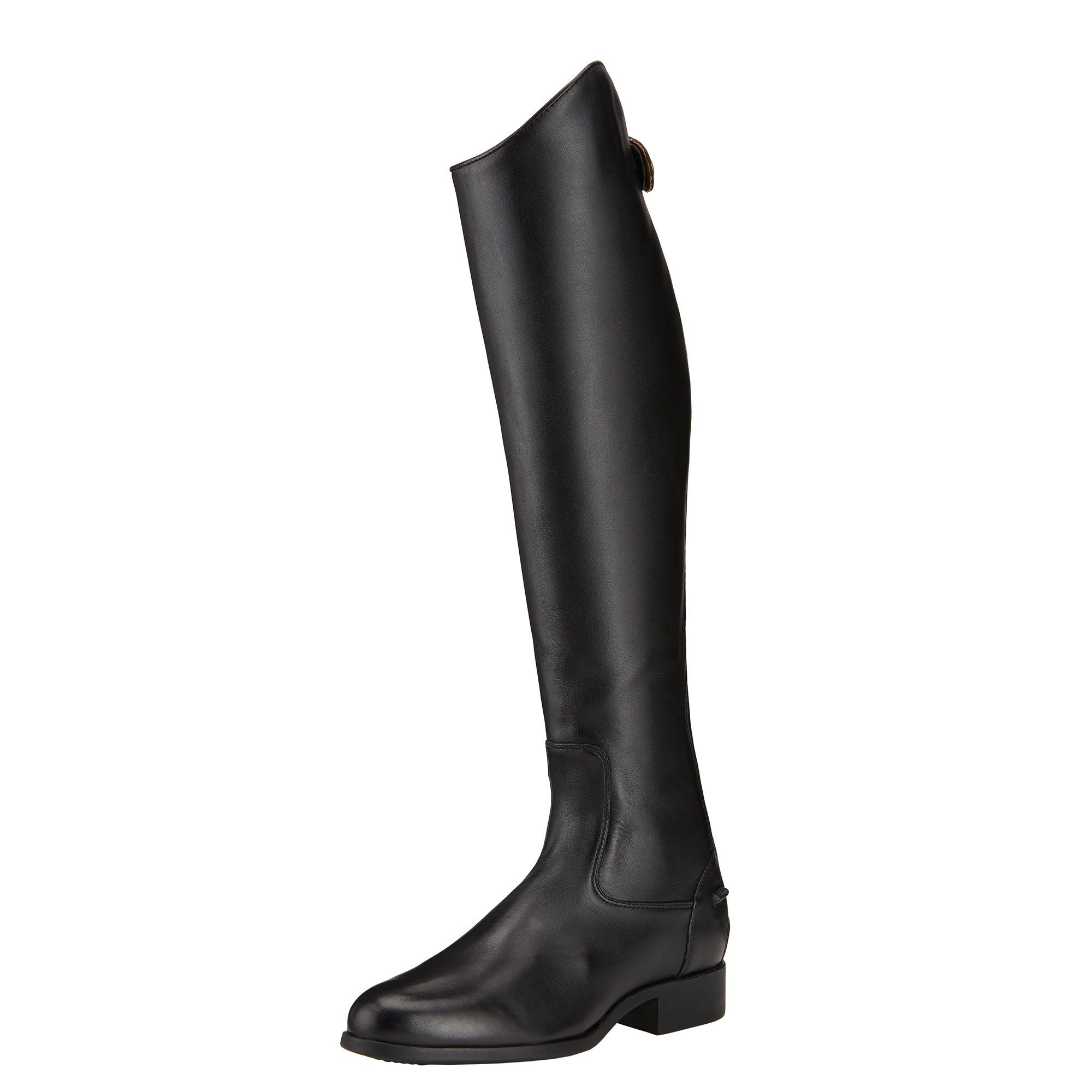 Women's Heritage Contour Dress Zip Tall Riding Boots in Black Leather, size 6.5 B / Medium X-Slim by Ariat