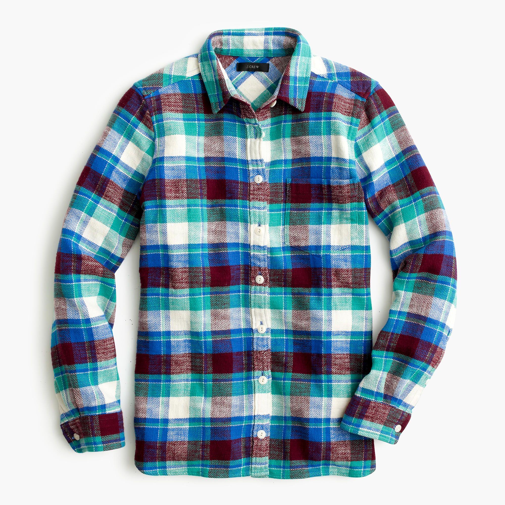9a9a4f7a Shrunken boy shirt in gemstone plaid : shirts & tops | J.Crew | J ...