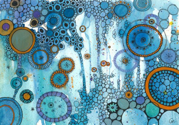 92f8ab91425 PRINT What The Water Gave Me DoodlePainting by DoodlePaintings ...