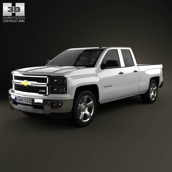 Chevrolet Silverado Extended Cab Z71 2014 3d Model From