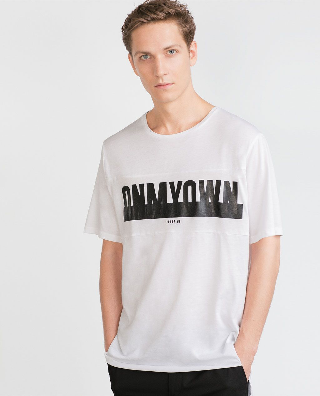 PRINTED LETTERS T - SHIRT - T - shirts - MAN | ZARA United States