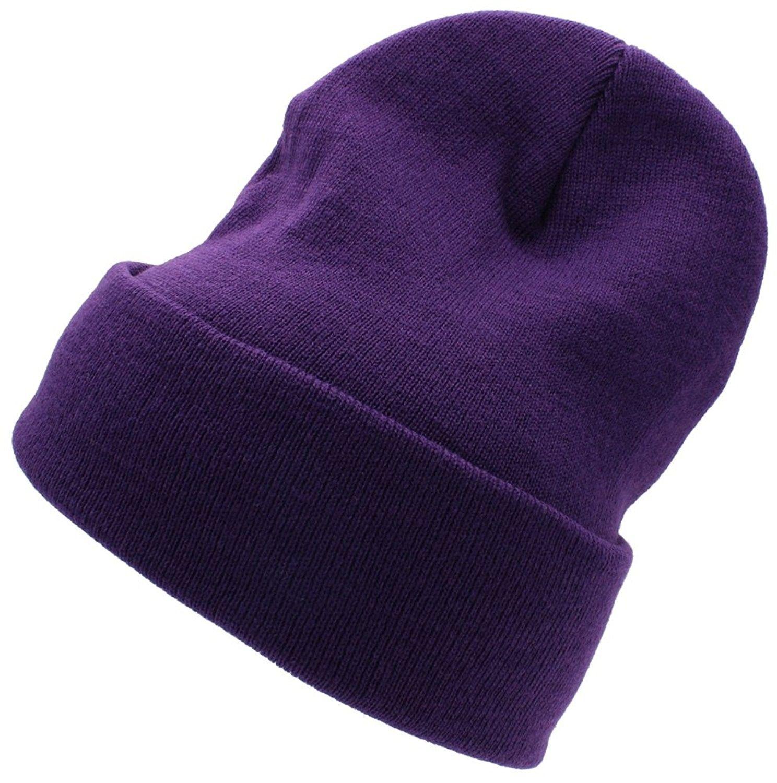 ca85e4a7e79 Beanie For Women and Men Unisex Cuffed Plain Skull toboggan Knit Hat ...