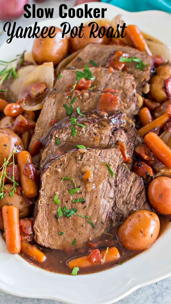 Slow Cooker Yankee Pot Roast [Video] - Sweet and Savory Meals