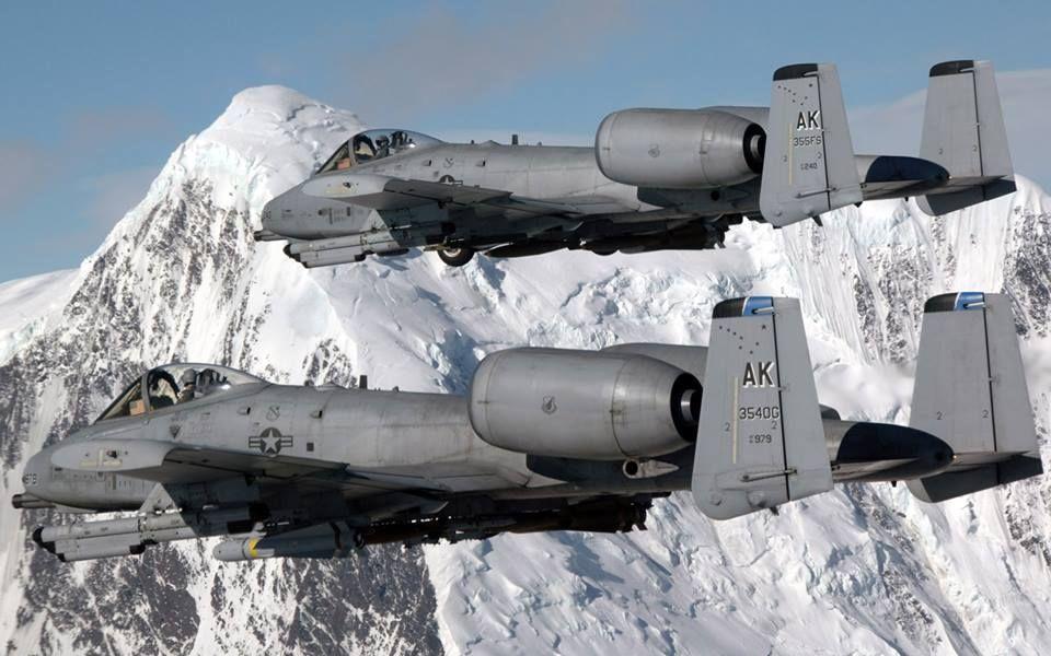 A10 WARTHOG THUNDERBOLT PAINTING USAF MILITARY US HISTORY ART REAL CANVAS PRINT