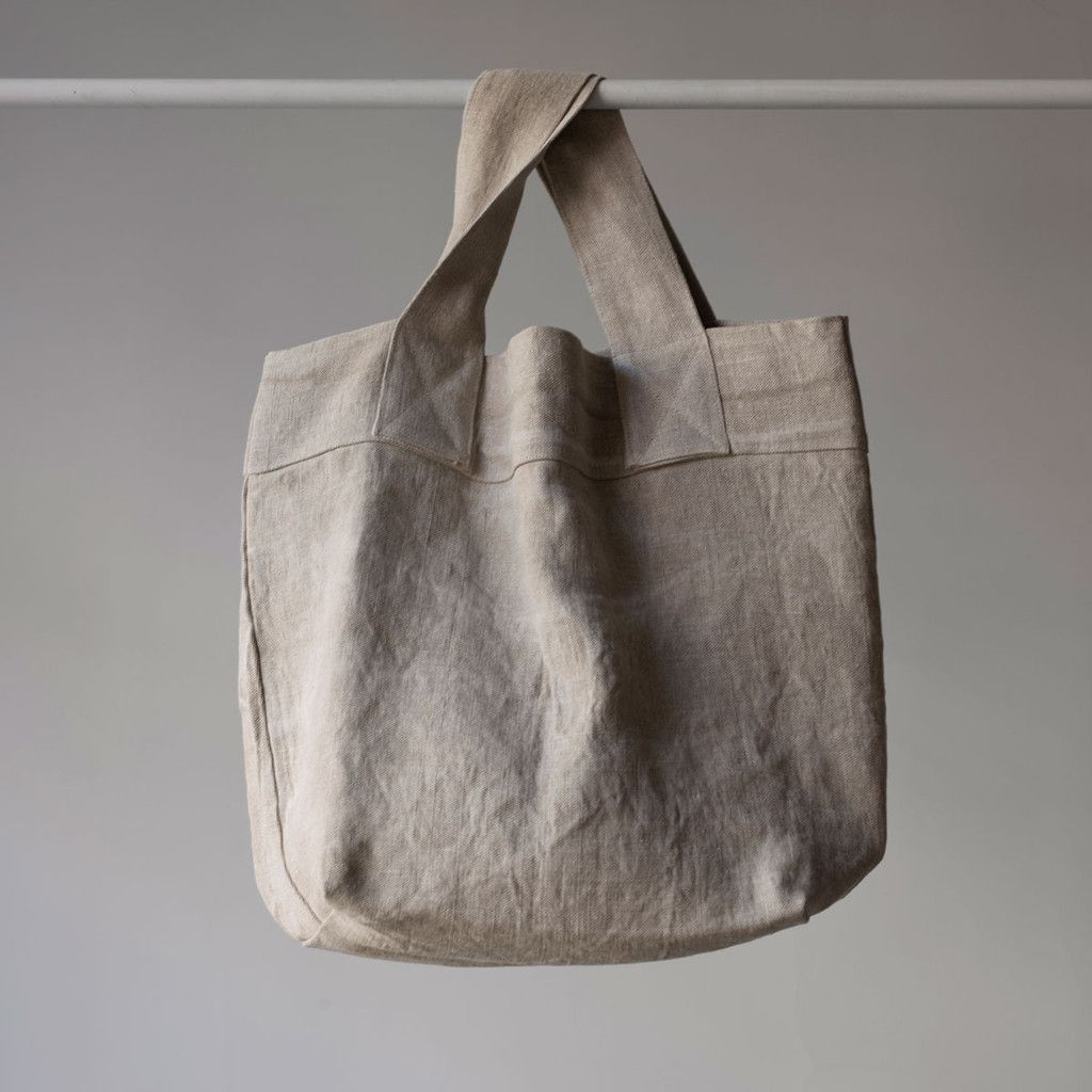 Natural linen tote | CARRY | Linen bag, Handmade bags ...