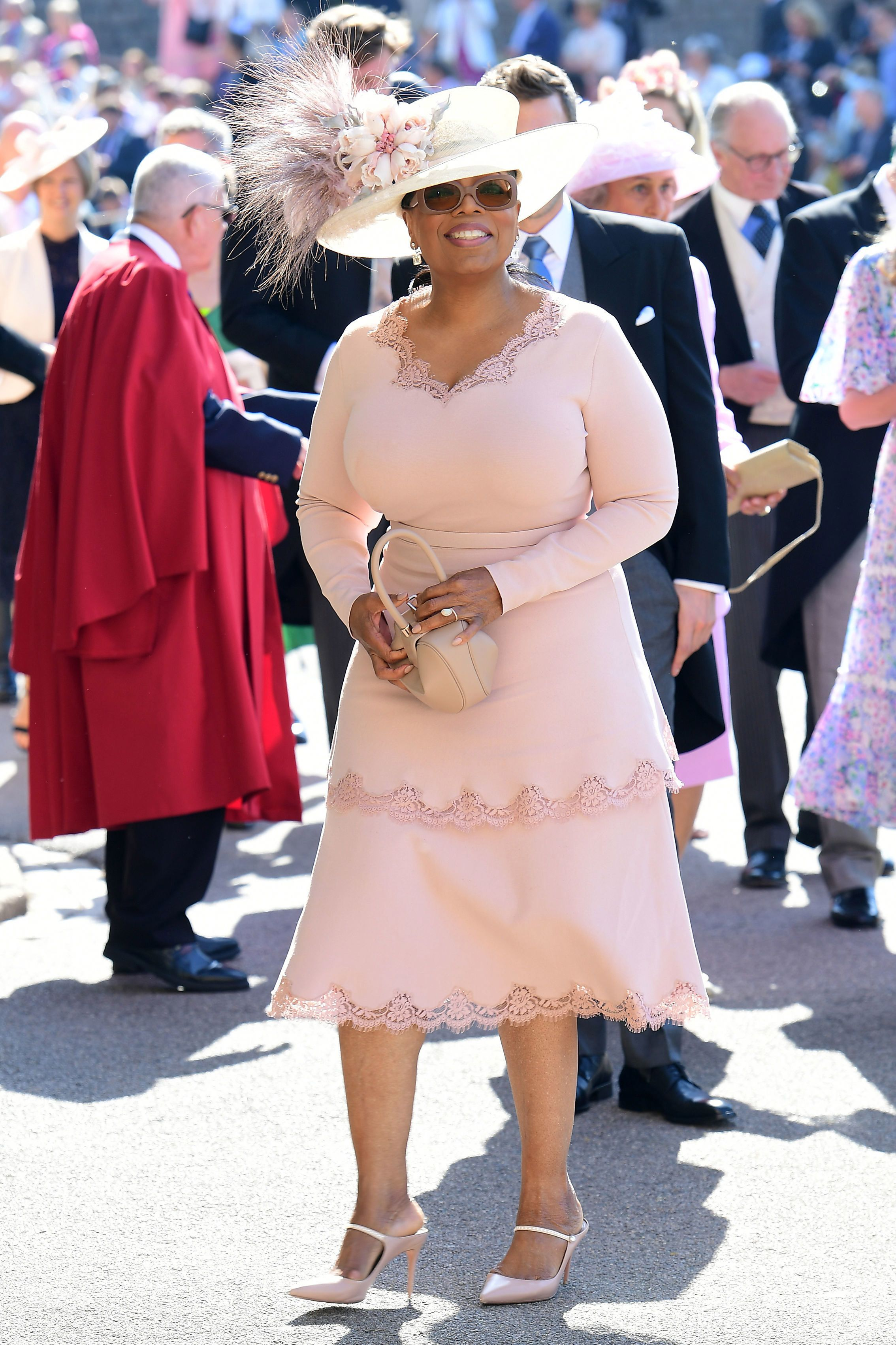 Oprah Winfrey In Stella McCartney - Prince Harry & Meghan Markle\'s ...