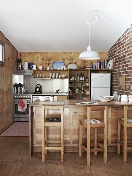 Cocina con pared de ladrillo decor pinterest cocina - Cocina de ladrillo ...