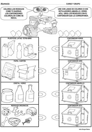 Resultado De Imagen Para Fichas Para Niños Sobre Reciclaje