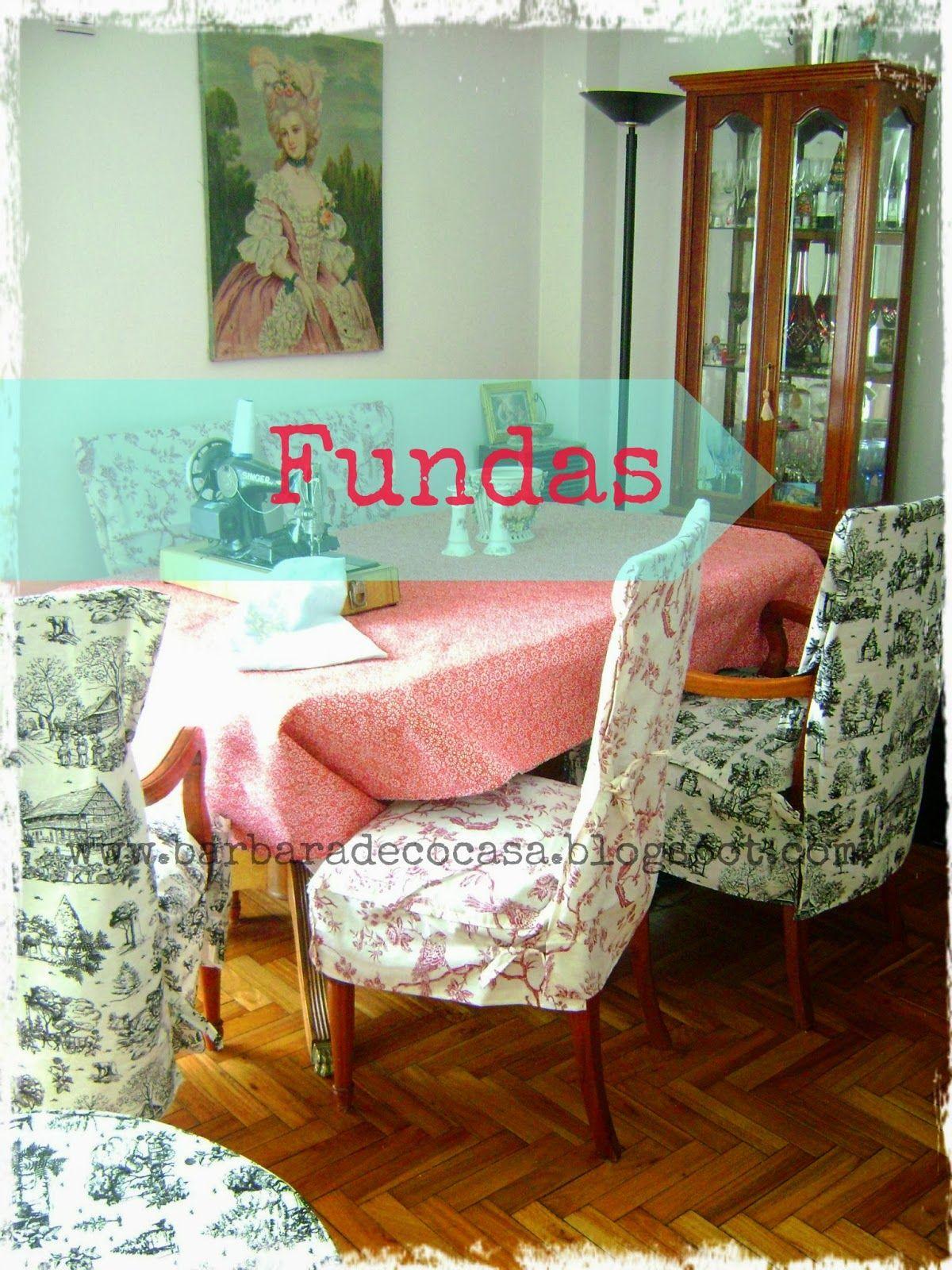 Decoracion Romantica Vintage En Toile De Jouy Fundas Sillas - Decoracion-romantica-vintage