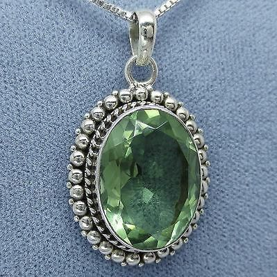 sara sterling amethyst necklace green silk silver blaine pendant