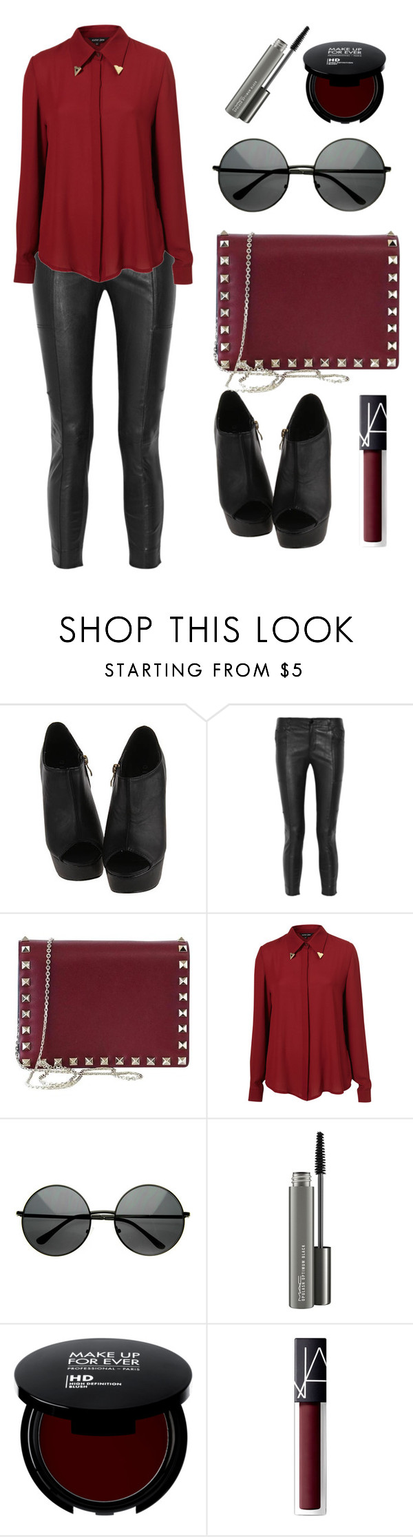 """""""Untitled #143"""" by longarina ❤ liked on Polyvore featuring J Brand, Valentino, Sister Jane, MAC Cosmetics and NARS Cosmetics"""