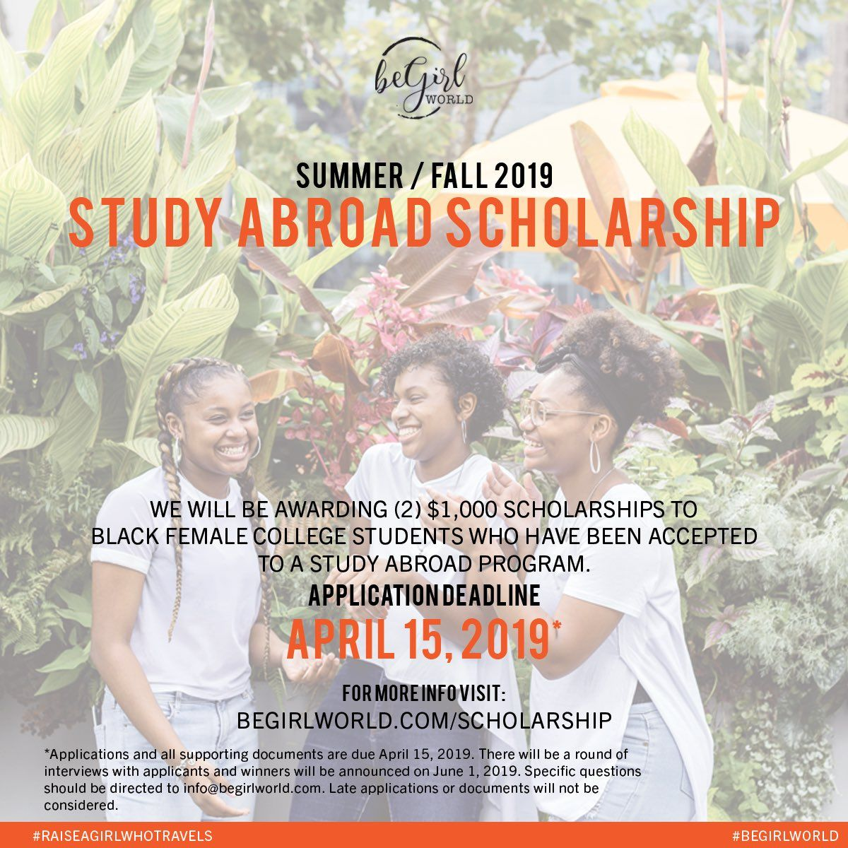$2,000 scholarships for black female college students who